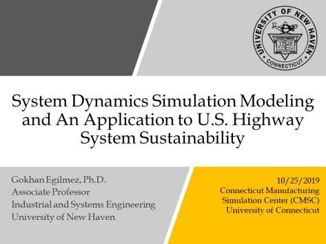 Title Slide_Egilmez, Research Seminar, SD modeling UCONN